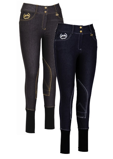 <b><i>Equine Couture Bobbi Denim Ladies Breeches  </i></b>