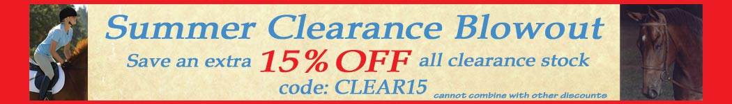 Save 15% off clearance over $50.