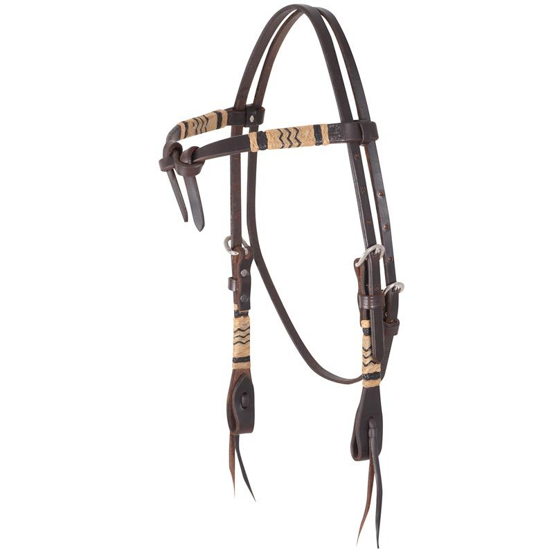 Martin Saddlery Braided Headstall With Rawhide P 13781 on Leather Dog Harness