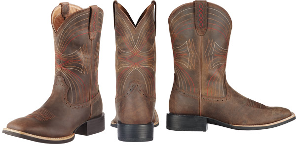 Mens Cowboy Boots Square Toe Ariat Mens Sport Performance Western