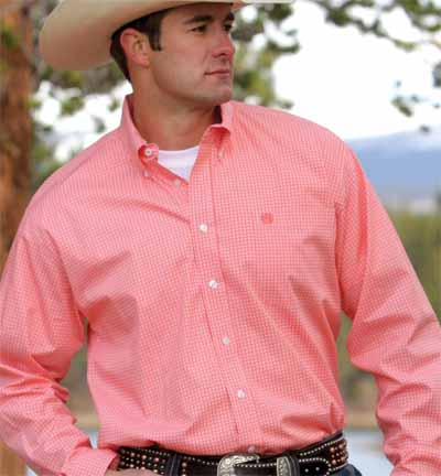 Cinch coral print longsleeve button down xs for Coral shirts for guys