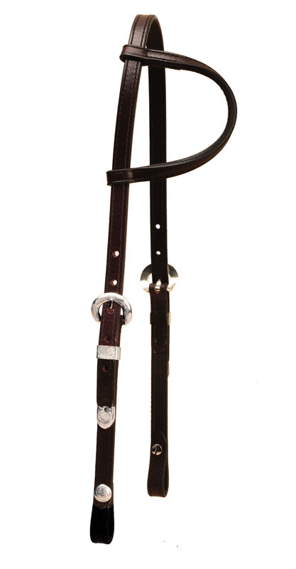 Tory Leather One Ear Show Headstall