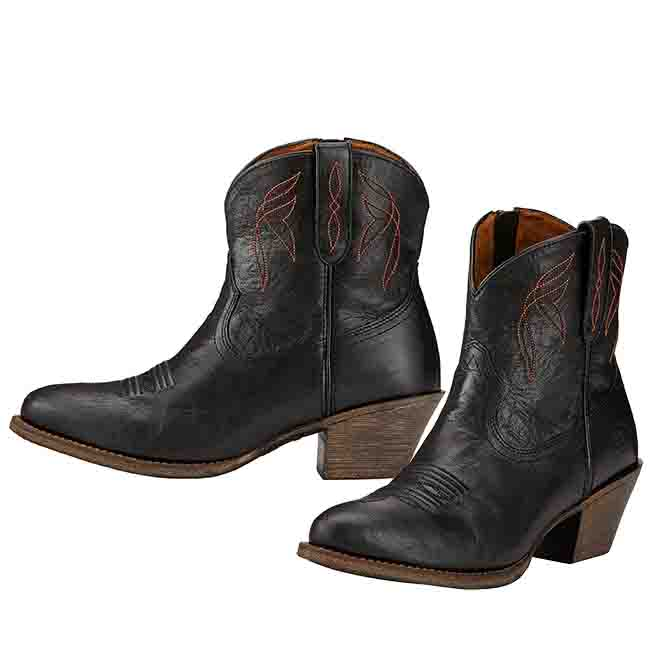 38375443bb2cc Ariat Darlin Cowgirl Short Boots for Women in Black