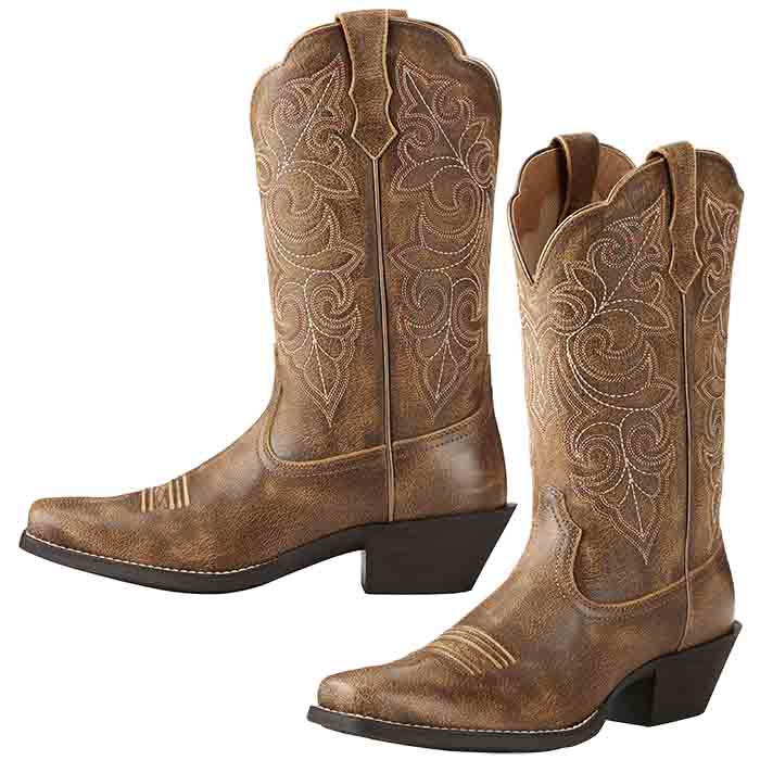 Details about  /Ariat Ladies Round Up Square Toe Boots