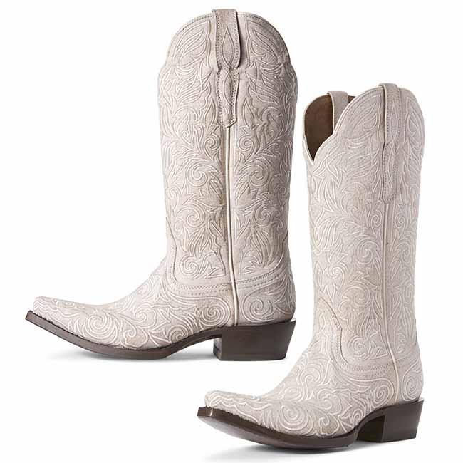 ead04296bb7 Ariat Sterling Western Wedding Boots White