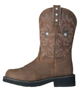 Ariat Pro Baby Western Boot in Driftwood Brown