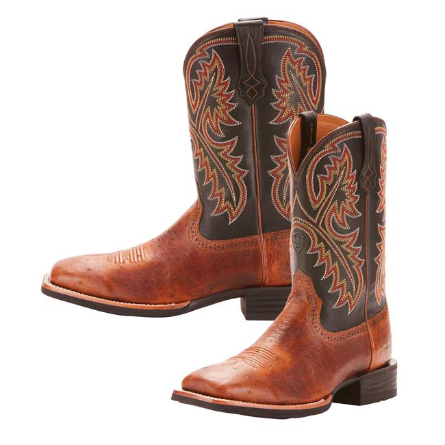 787c754f671 Ariat Mens Quickdraw Smooth Quill Ostrich Square Toe Boots