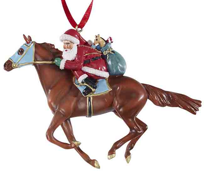 Christmas Horse Tack.Breyer Santa Christmas Tree Ornament