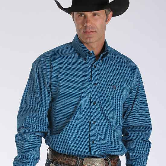 Cinch Blue Print Men S Shirt
