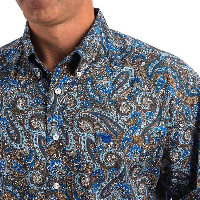 d3561a71 Cinch Navy/Blue Paisley Button Down Shirt