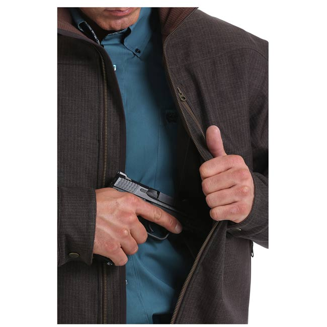 Cinch Brown Textured Concealed Carry Bonded Jacket