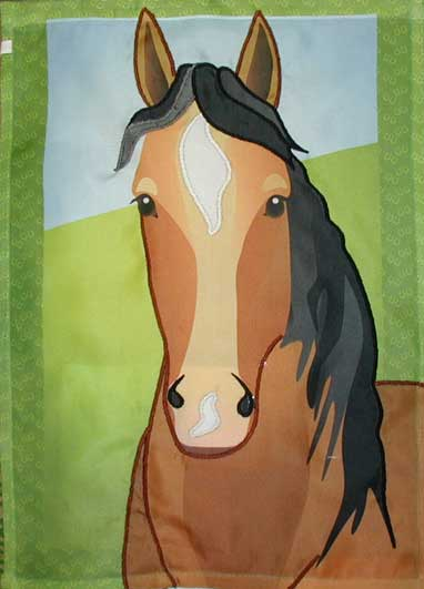 Silly Filly Garden Horse Flag
