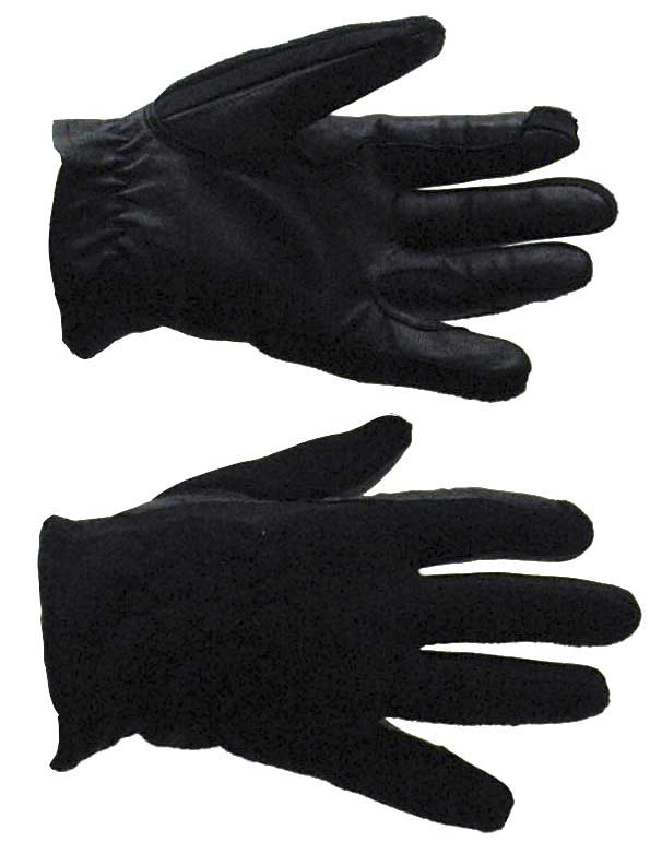 Leather palm with reinforced fingers and fleece back glove is a great in between