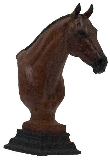 thoroughbred hunter horse bust sculpture