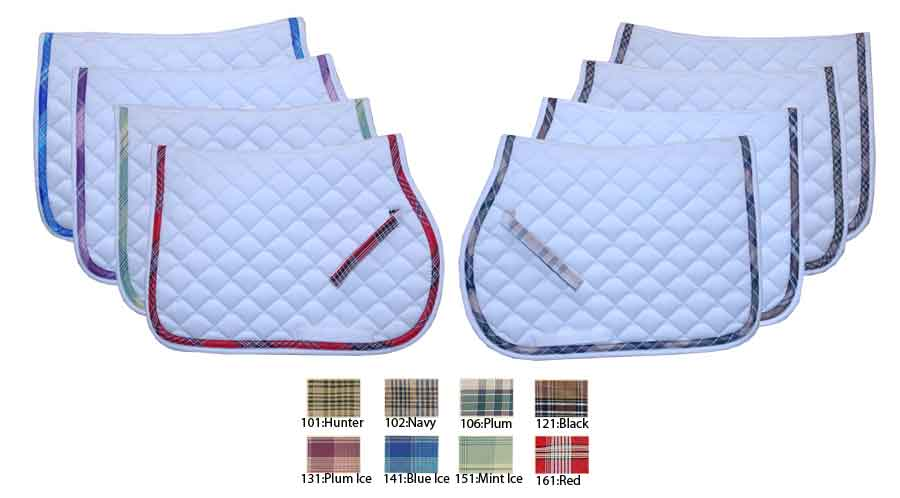 Kensington All Purpose Plaid Lined Saddle Pad