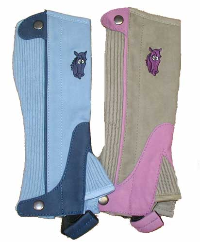 Colorful Synthetic Suede Half Chaps For Kids