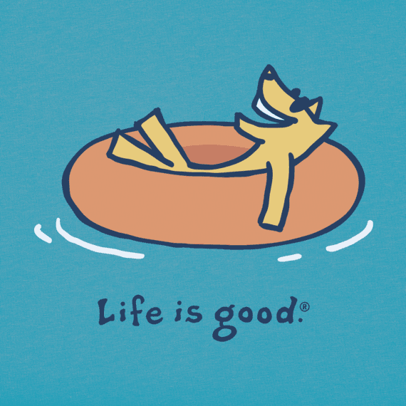 Life is Good Rocket Innertube Vintage Crusher Tee