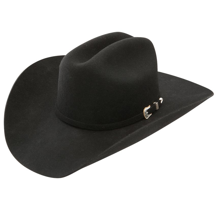 Resistol Oak Ridge Black Felt Cowboy Hat