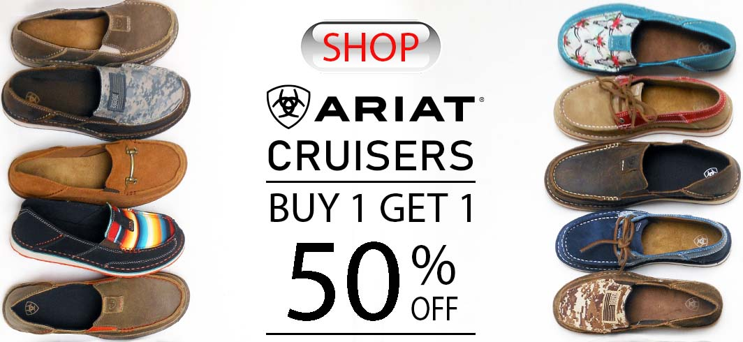 Ariat Cruisers, Ariat Cruiser Shoes, Ariat promo  sale