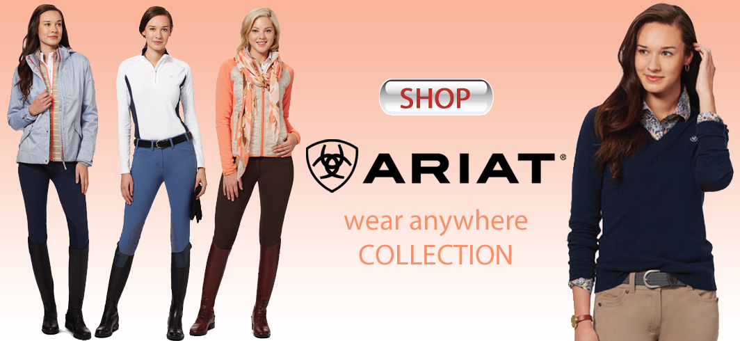 Shop Ariat riding breeches, Ariat sun shirts and other Ariat
