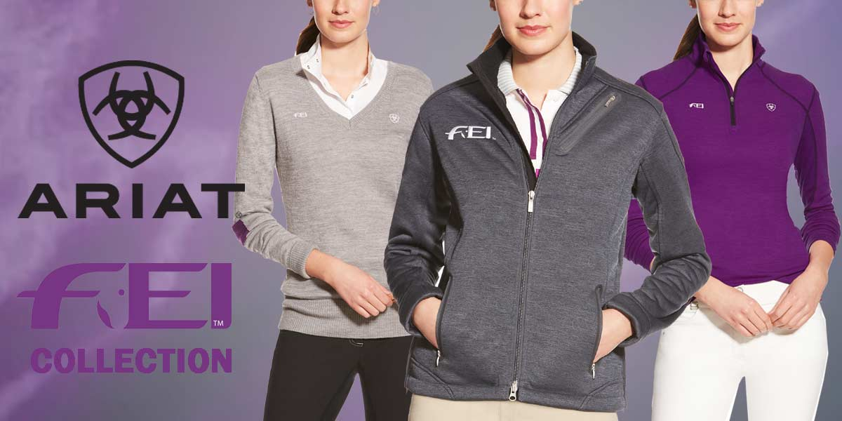Ariat FEI Collection clothing, jackets, polo shirts