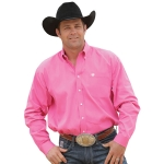 Cinch Men's Solid Pink Pinpoint Shirt
