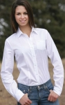Cinch Ladies Solid White Pinpoint Shirt