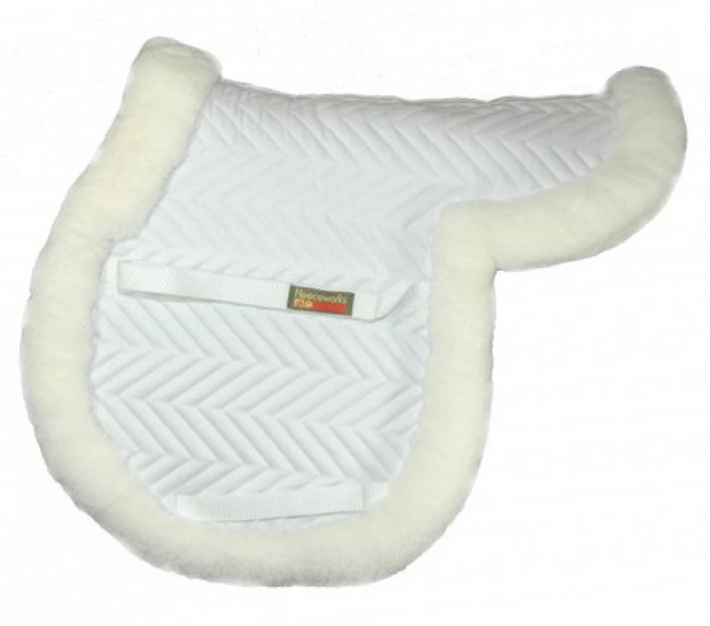 Fleeceworks Close Contact Sheepskin Pad with Full Trim
