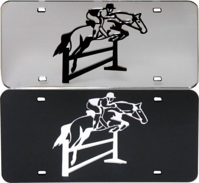License Plate - Jumping Horse and Rider