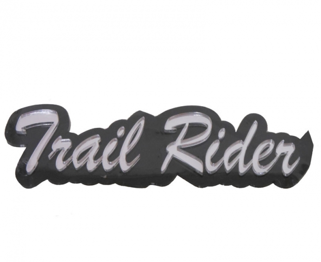 Trail Rider 3 Dimensional Automotive Decal