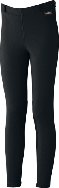 Kerrits Kids Microcord Kneepatch Breeches in Black