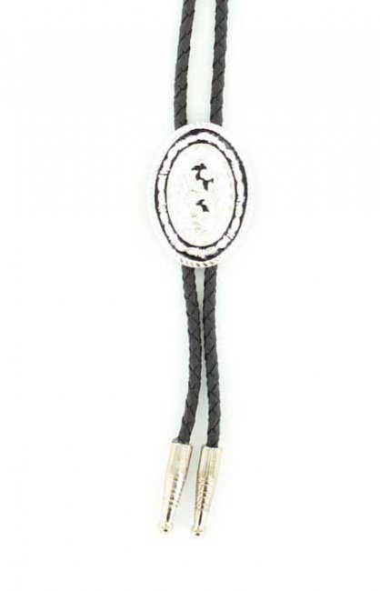 M&F Western Oval with Rope Bolo Tie