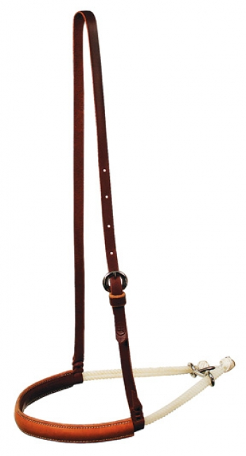Reinsman Latigo Lined Double Rope Noseband