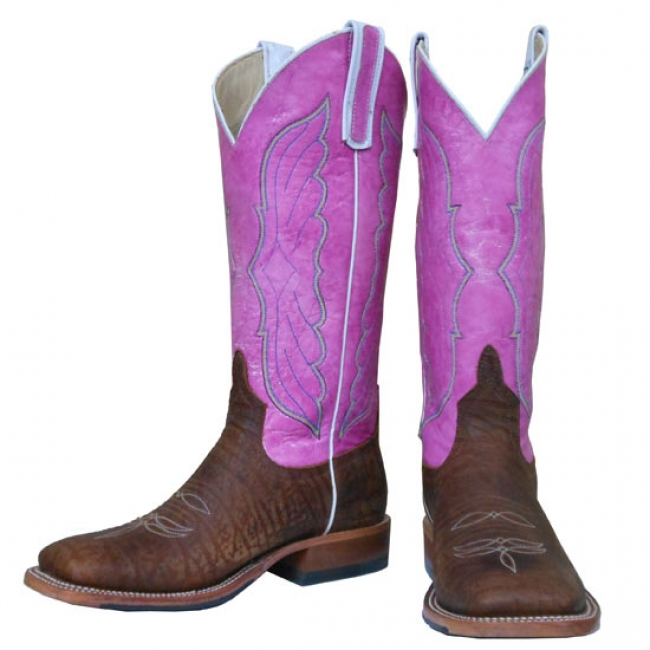 Anderson Bean Pink and Chocolate Western Boots