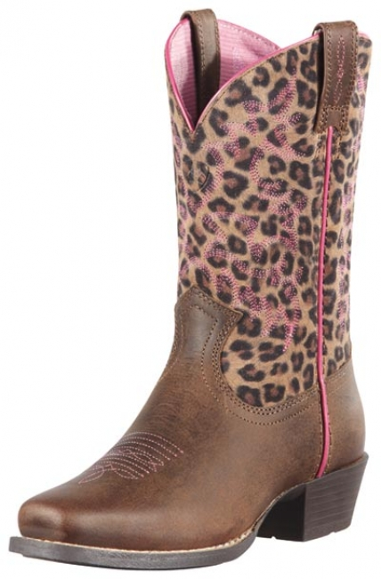Ariat Legend Leopard Print Youth Western Boot
