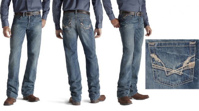 Ariat Men's M2 Linked Fashion Pocket Jeans in Riverwash