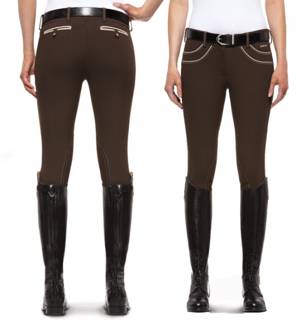 Ariat Olympia Knee Patch Breech-Espresso