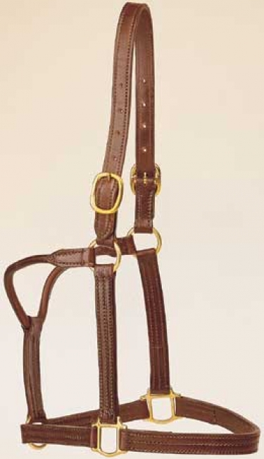 Tory Deluxe Triple Stitched Leather Halter