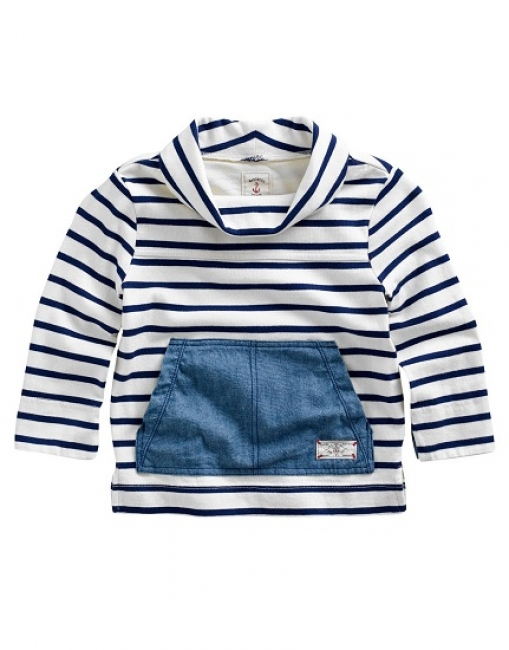 Joules Junior Seawell in Navy Stripe