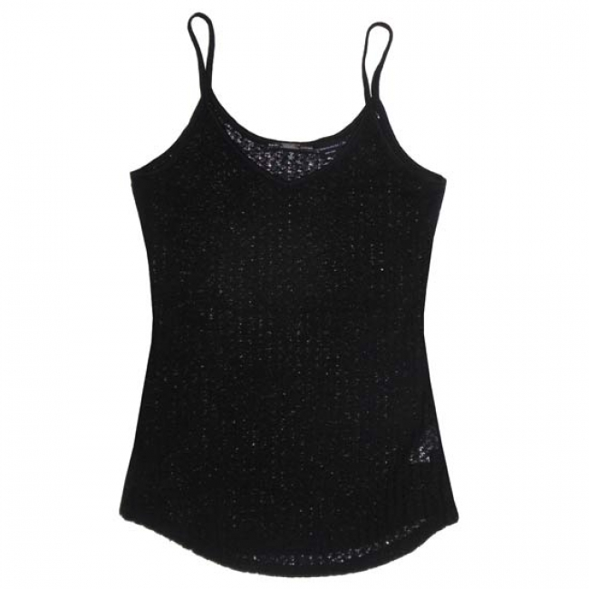 Miss Me Black Loose Knit Camisole