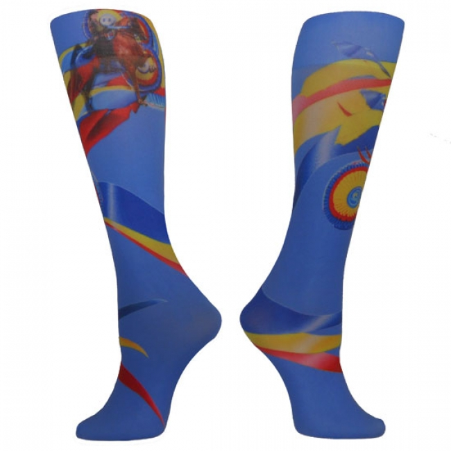 InkStables Colorful Ribbon Tall Boot Socks for Women