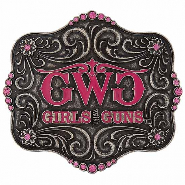 Montana Silversmiths Girls With Guns Buckle