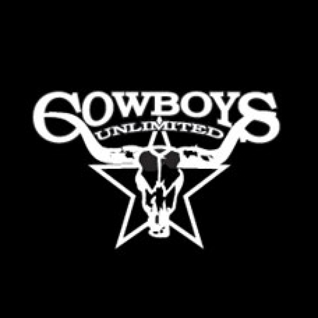 Cowboys Unlimited Skull Decal