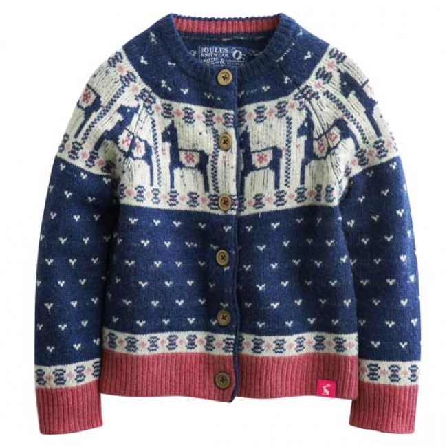 Joules Junior Cherish Fair Isle Cardigan