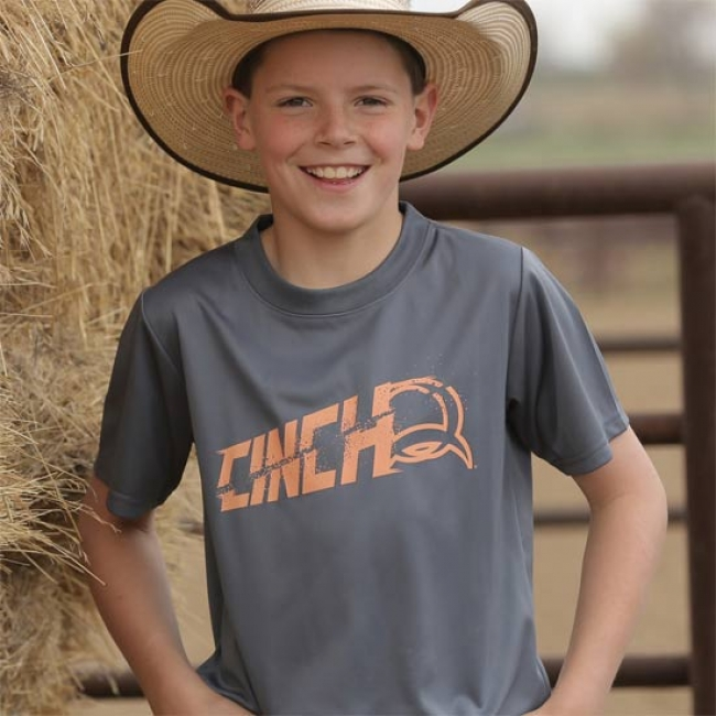 Cinch Grey Athletic Tee for Boys