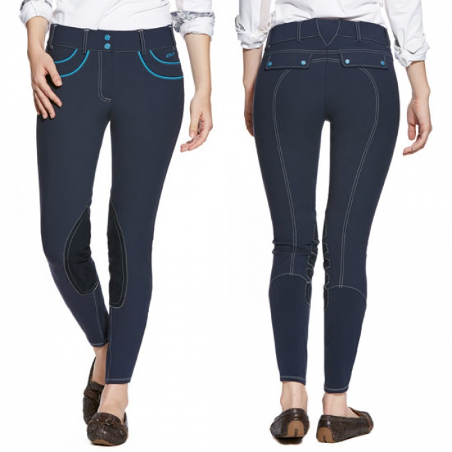 Ariat Olympia Acclaim Knee Patch Breeches in Navy