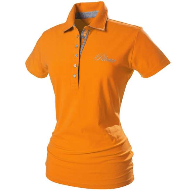 Pikeur Dolly Women's Polo Shirt in Orange