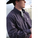 Cinch Oil Derrick Print Button Down Shirt