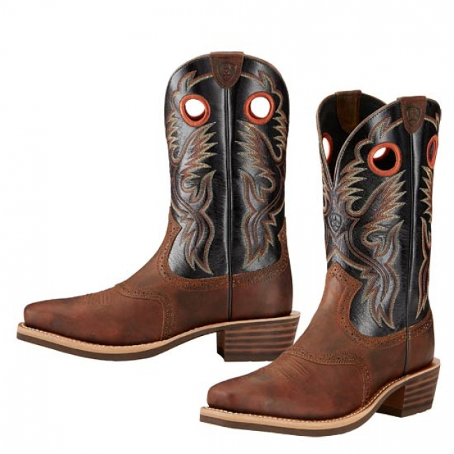 11be0cfdd3c Ariat Heritage Roughstock Western Boots for Men