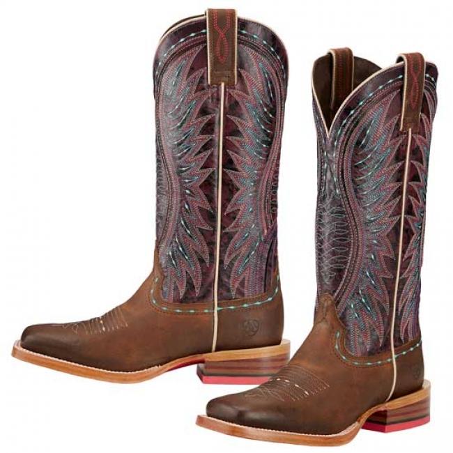 f852e1ea679c Ariat Vaquera Western Squere Toe Boots